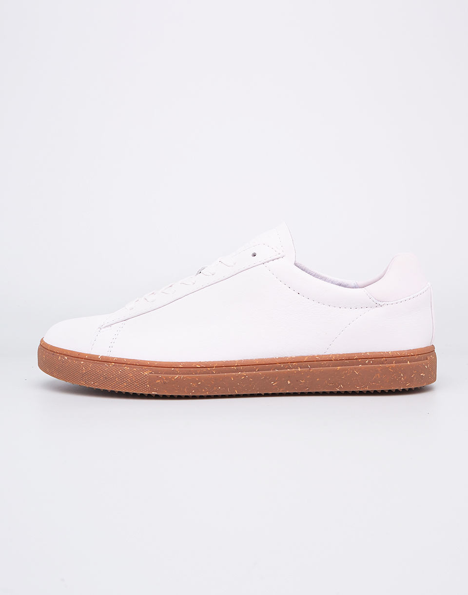 Clae Bradley White Tumble Leather Gum 42 5