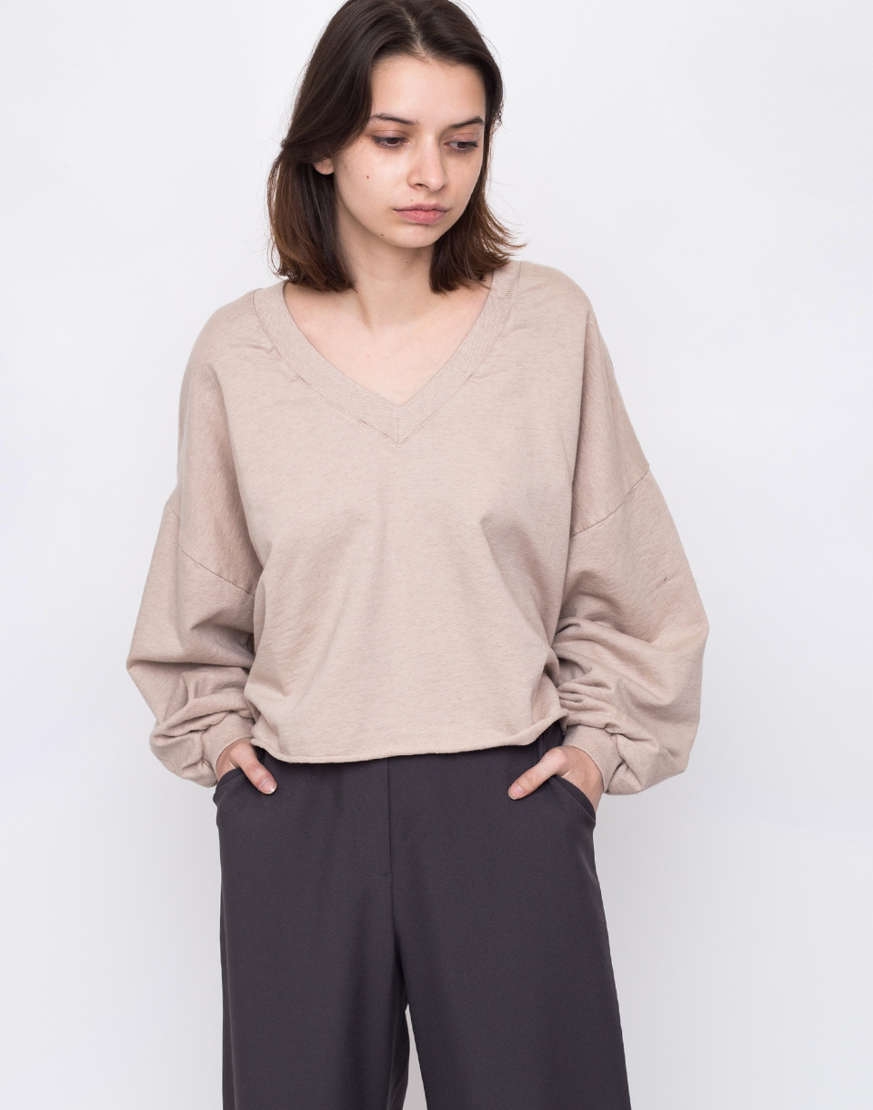 Friday s Project Sudadera Cp Oversized Cropped Sand L
