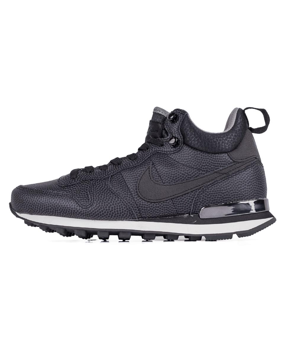 Sneakers - tenisky Nike Internationalist Mid Leather Black / Black - Deep Pewter - Dust 39 + doprava zdarma