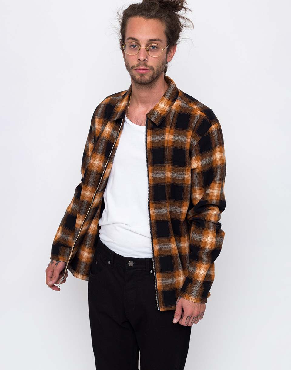Stussy Shadow Plaid Orange L