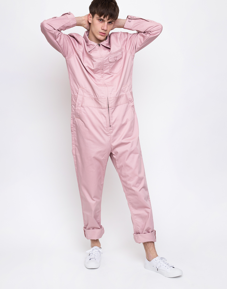 M C Overalls Polycotton Overalls Dusty Pink L