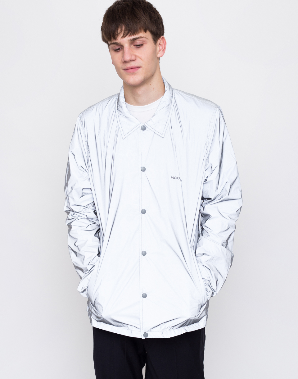 M C Overalls Reflective Coach Jacket Grey L