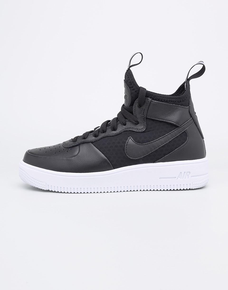 Sneakers - tenisky Nike Air Force 1 Ultraforce Mid-Top Black / Black - White 38 + doprava zdarma