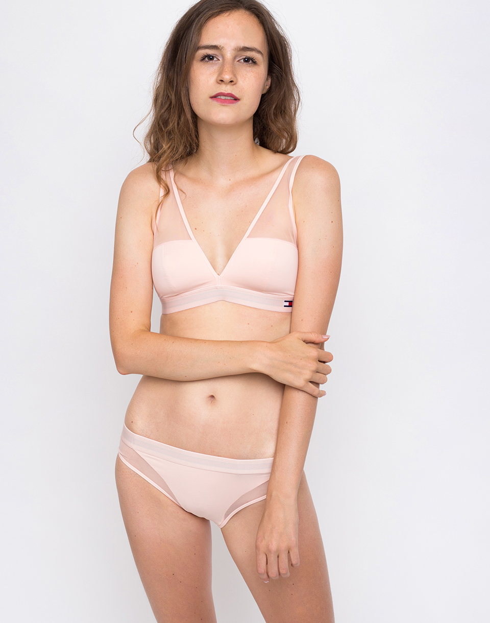 Tommy Hilfiger PADDED TRIANGLE BRA Pale Blush M