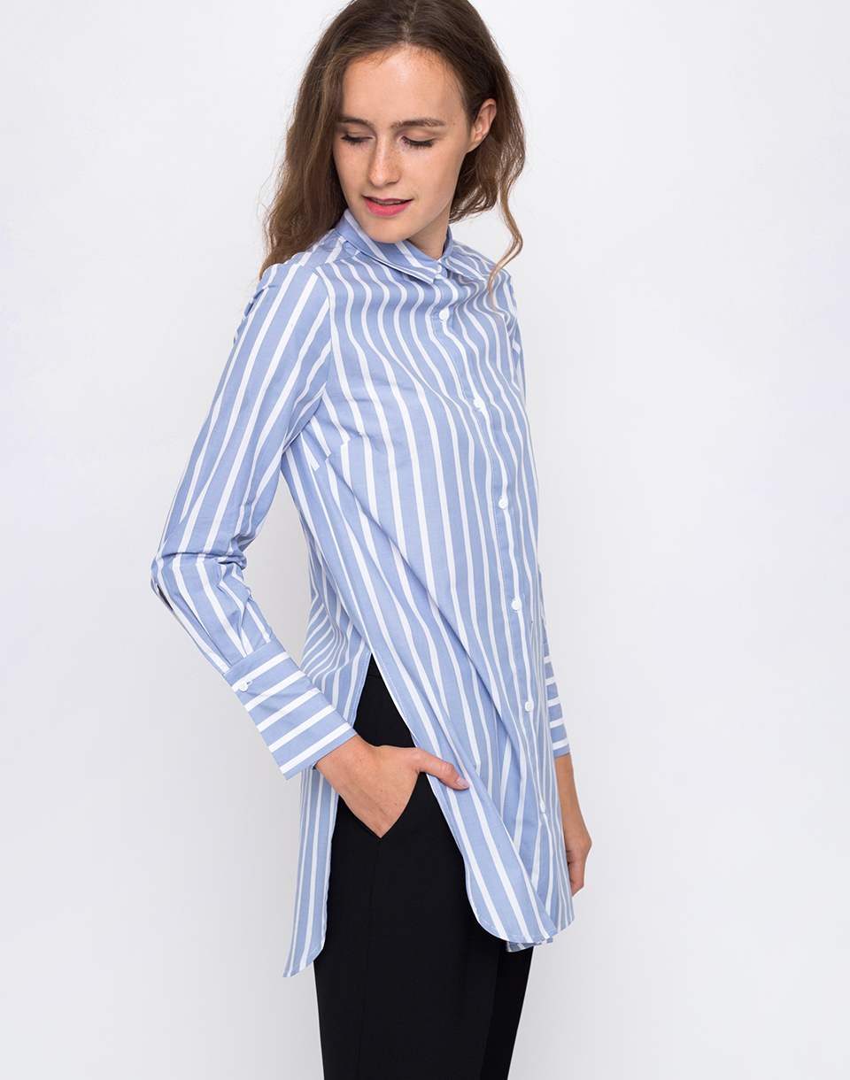 Edited Sonja White  Light Blue Stripes 34