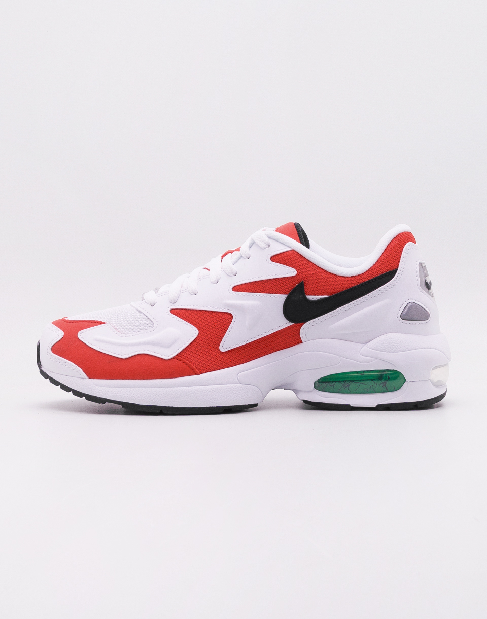 Nike Air Max2 Light WHITE BLACK HABANERO RED COOL GREY 42