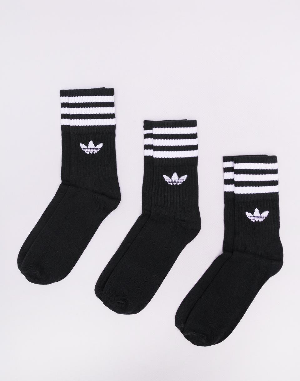 adidas Originals Mid Cut Crew Sock BLACK/WHITE 35-38