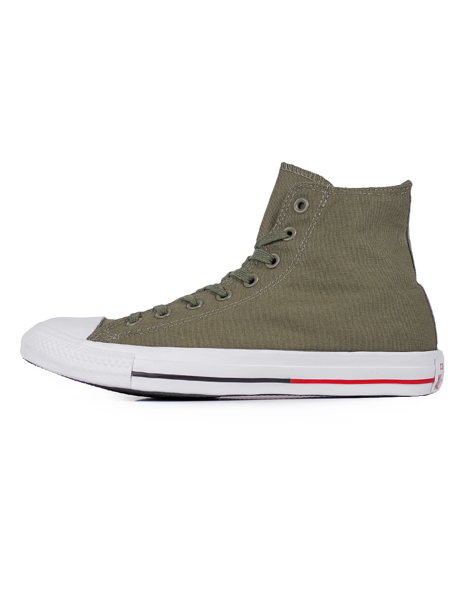 Sneakers - tenisky Converse Chuck Taylor All Star Fatigue Green / White / Signal Red 43