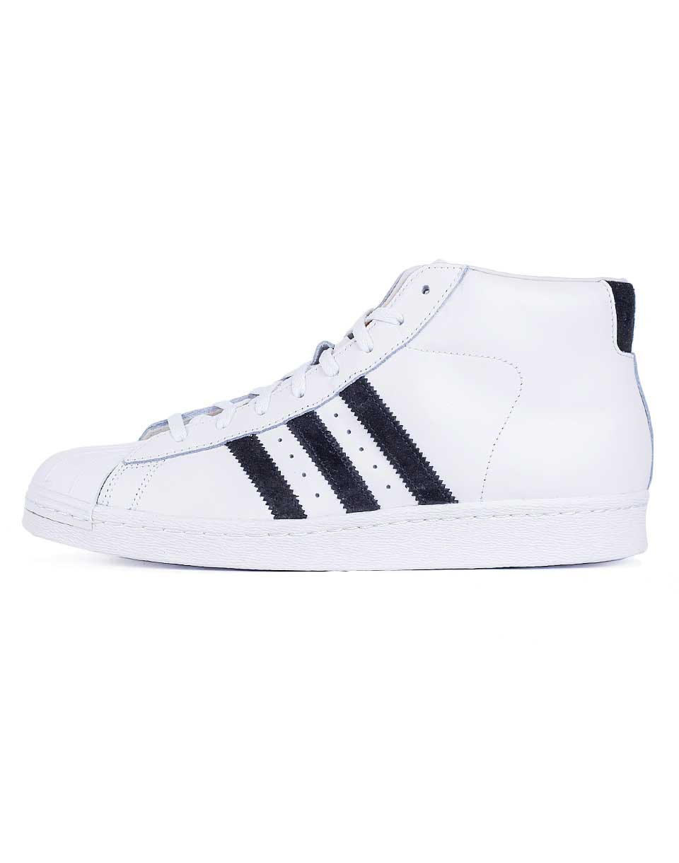 Sneakers - tenisky adidas originals PRO MODEL VINTAGE D OWHITE/CBLACK/OWHITE 42,5 + doprava zdarma