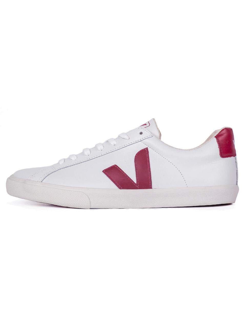 Sneakers - tenisky Veja ESPLAR EXTRA WHITE MARSALA 43