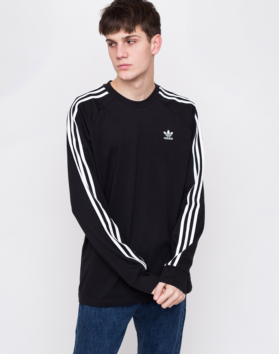 adidas Originals 3 Stripes LS Tee Black L