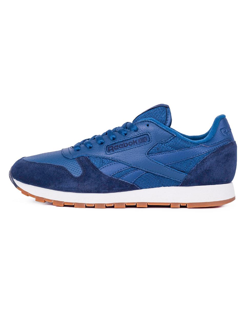 Sneakers - tenisky Reebok Classic Leather Split NOBLE BLUE/CLLGNAVY/ 44 + doprava zdarma