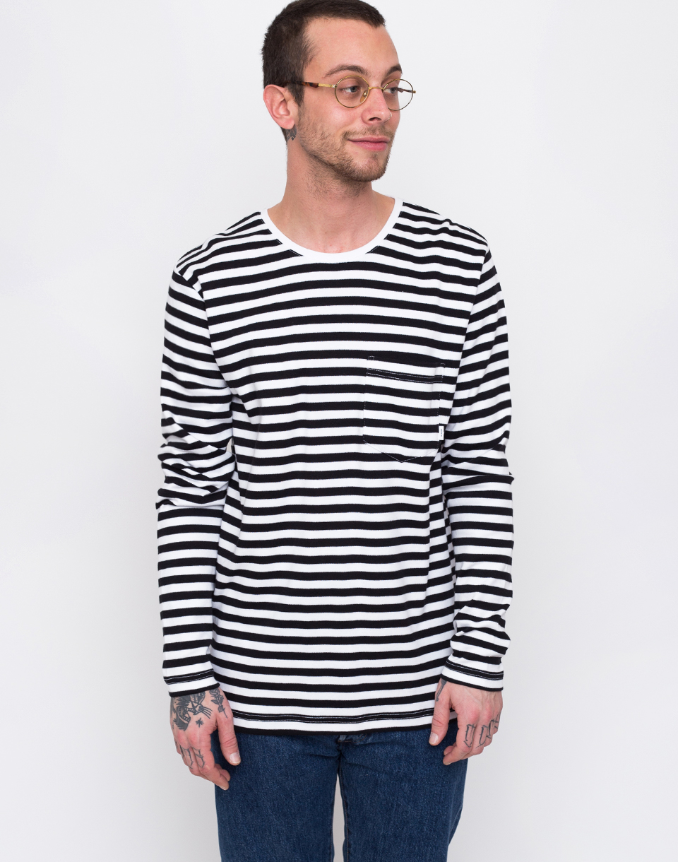 Makia Verkstad Long Sleeve Black/White L