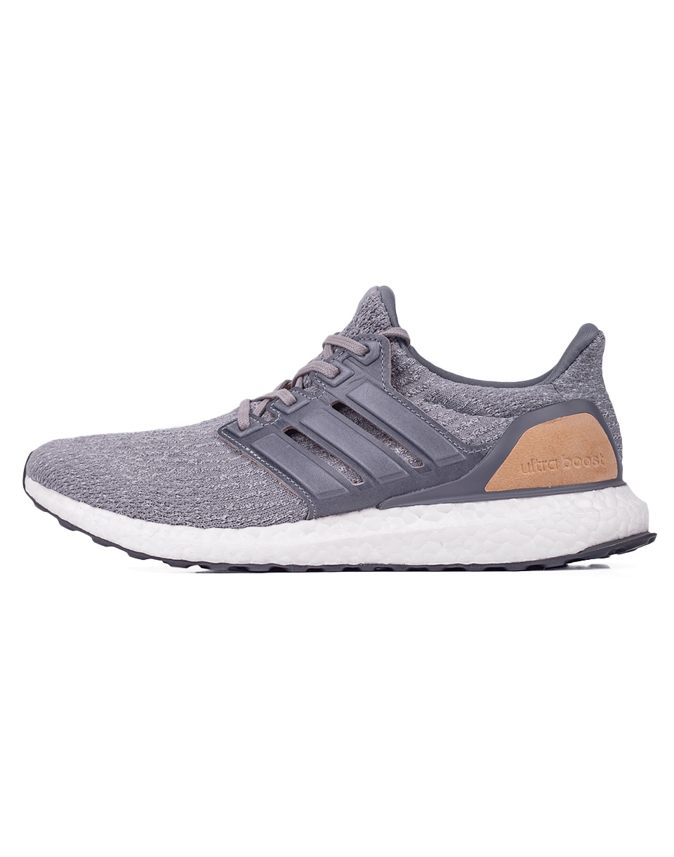 Sneakers - tenisky Adidas Originals Ultra Boost LTD Mid Grey / Mid Grey / Linen Khaki 41 + doprava zdarma