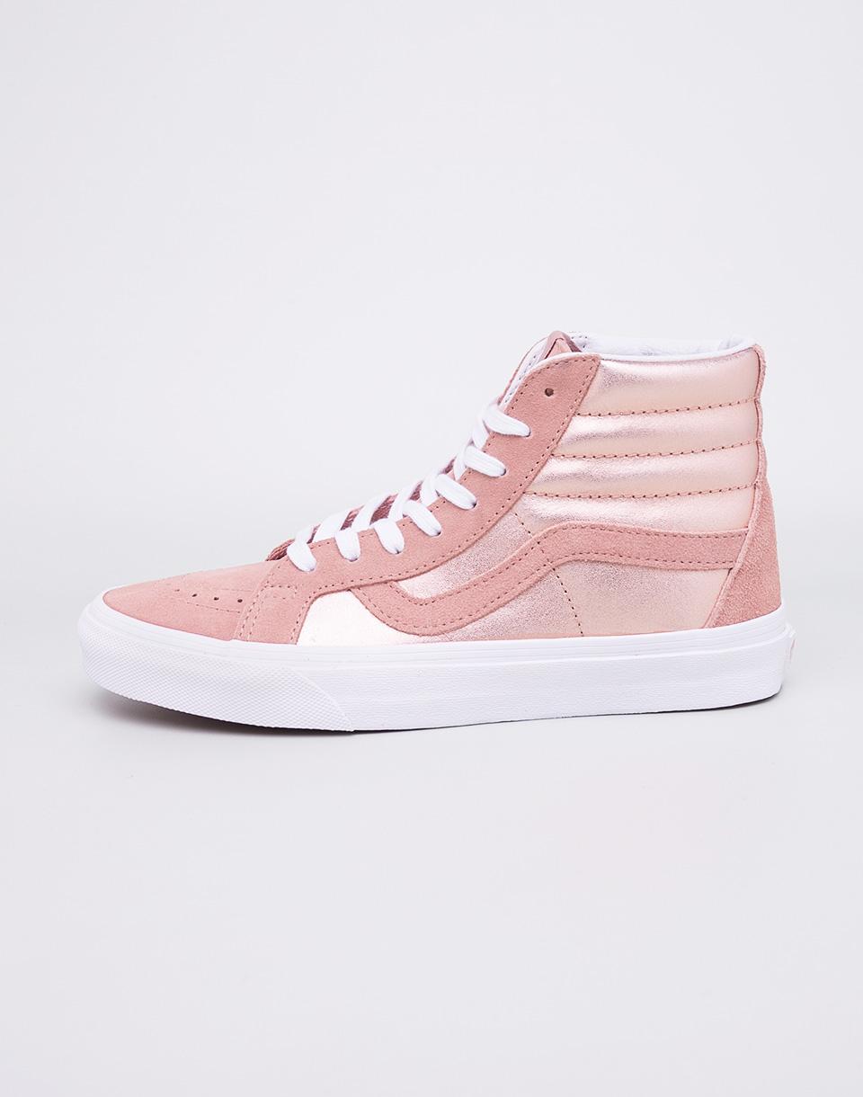 Sneakers - tenisky Vans Sk8-Hi Reissue (2-Tone Metallic) Mahagony Rose / True White 37 + doprava zdarma + novinka