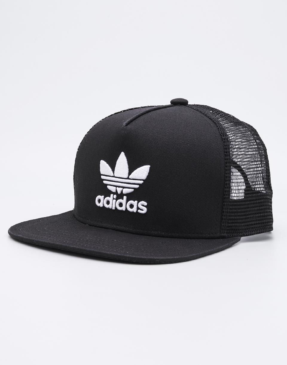 Kšiltovka Adidas Originals Trefoil Trucker Black/White
