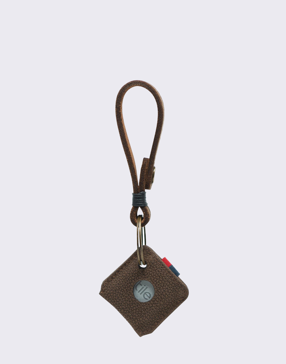 Herschel Supply Keychain   Tile Brown Pebbled Nubuck