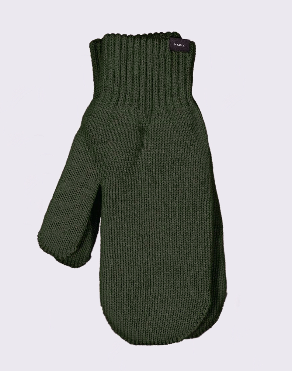 Makia Wool Mittens Green