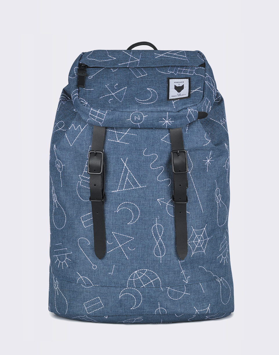 The Pack Society Premium Blue with White Embroidery