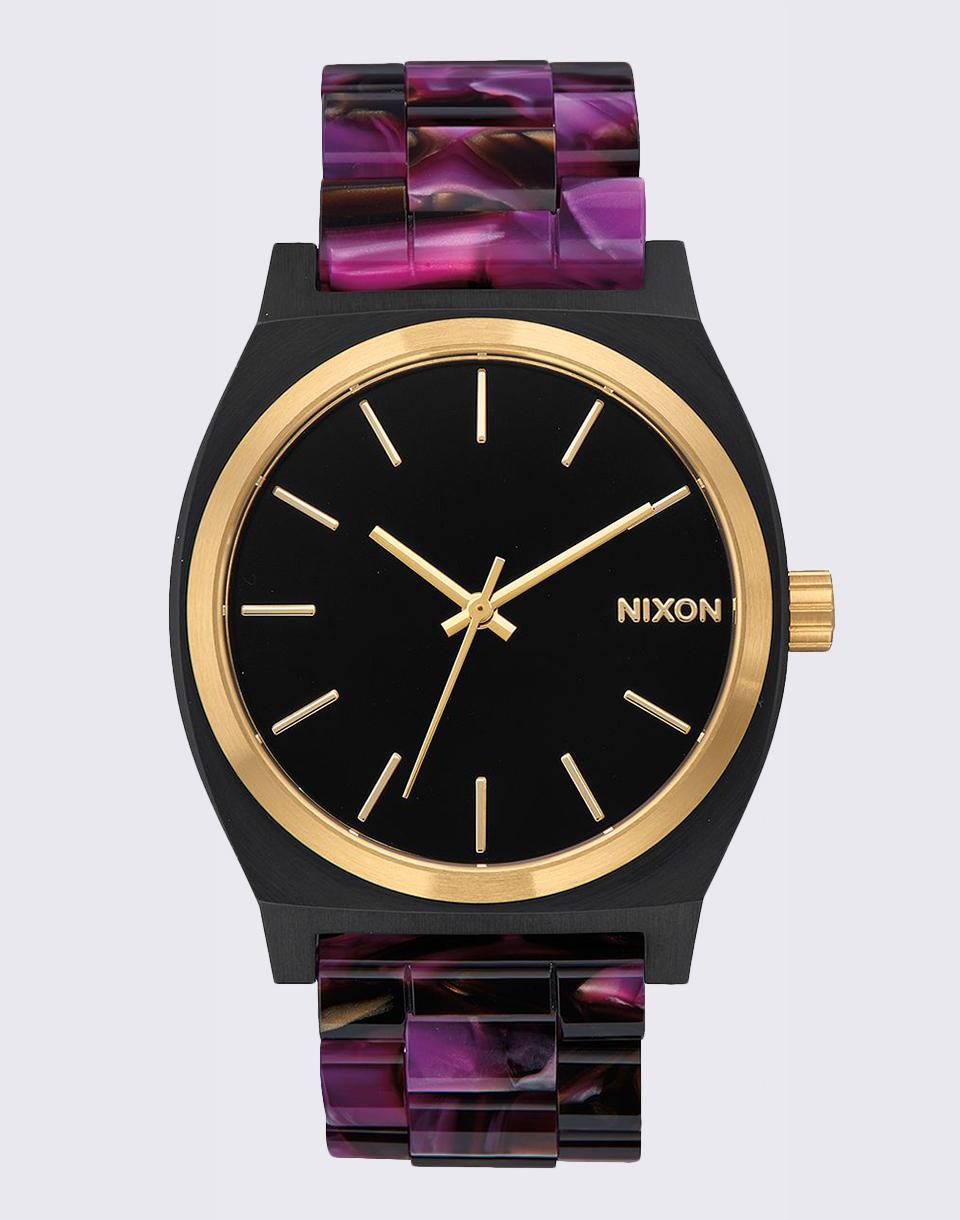 Hodinky Nixon Time Teller Acetate Multi/Black/Gold + doprava zdarma