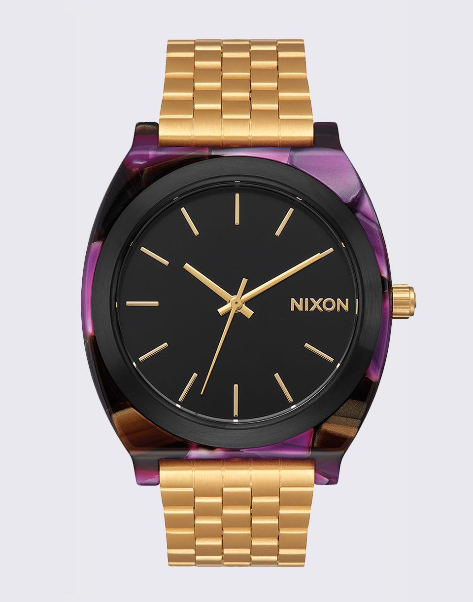 Hodinky Nixon Time Teller Acetate Multi/Gold + doprava zdarma