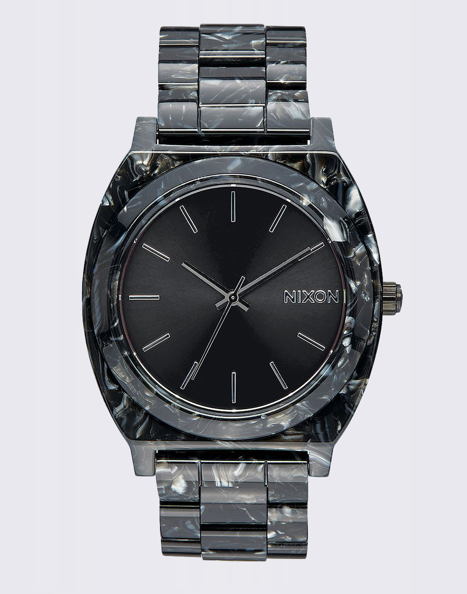 Nixon Time Teller Acetate Black Silver Multi