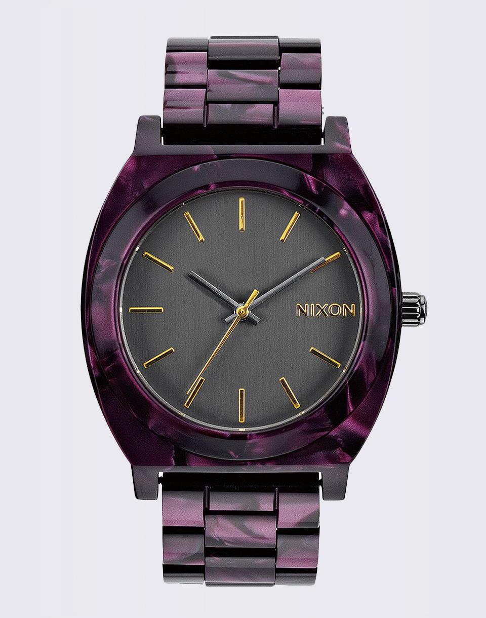 Nixon Time Teller Acetate Gunmetal/Velvet