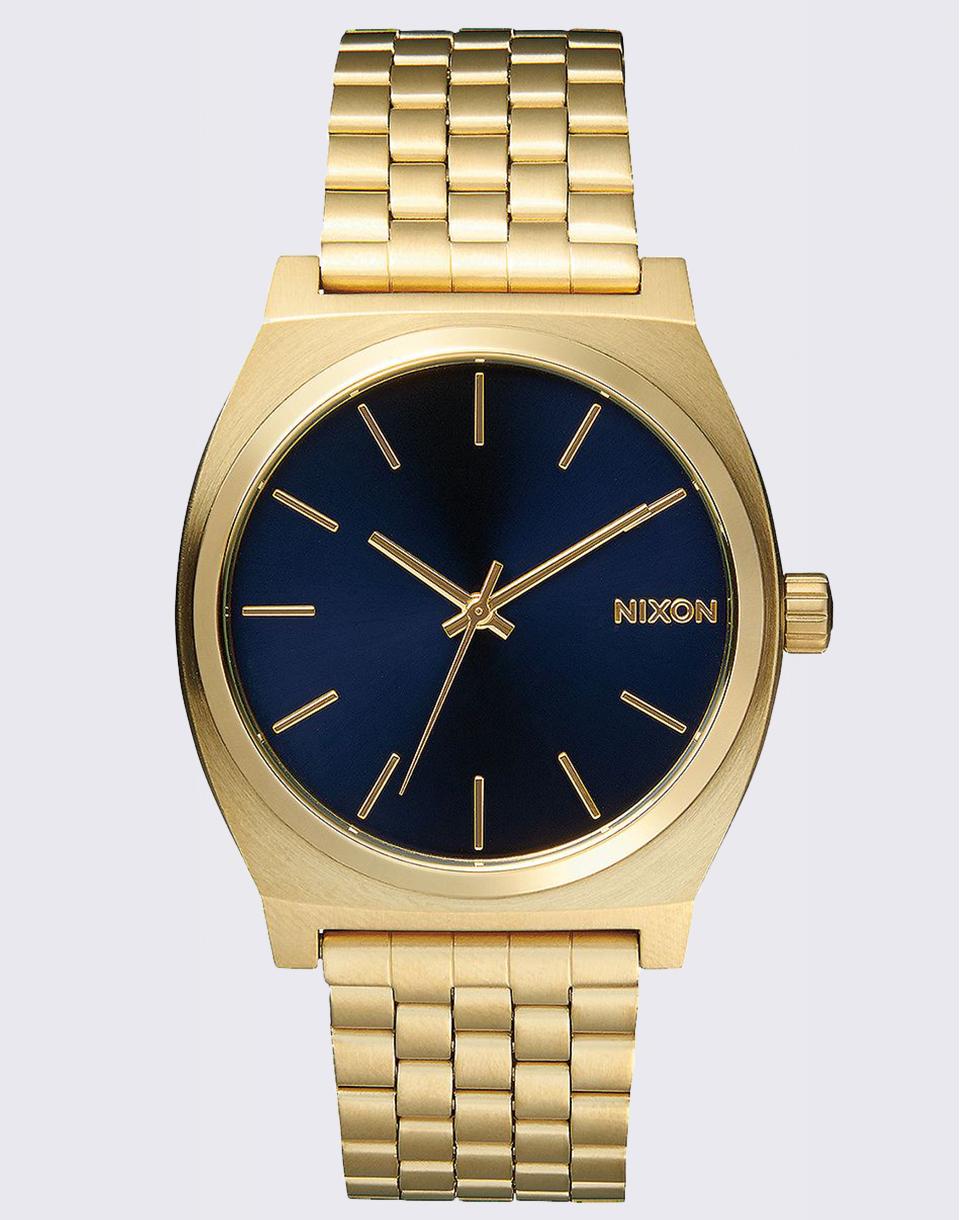 Hodinky Nixon Time Teller All Light Gold/ Cobalt + doprava zdarma