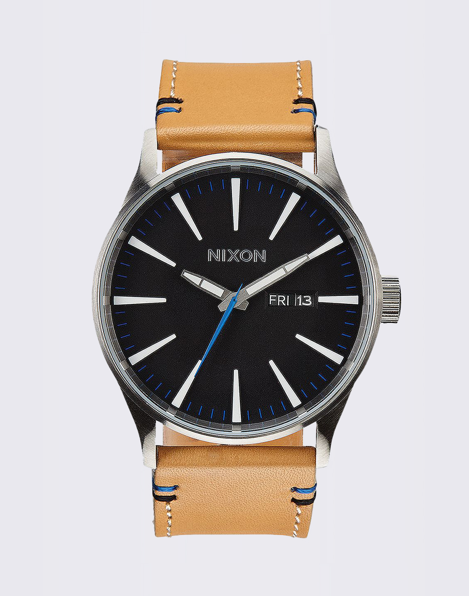 Nixon Sentry Leather natural black
