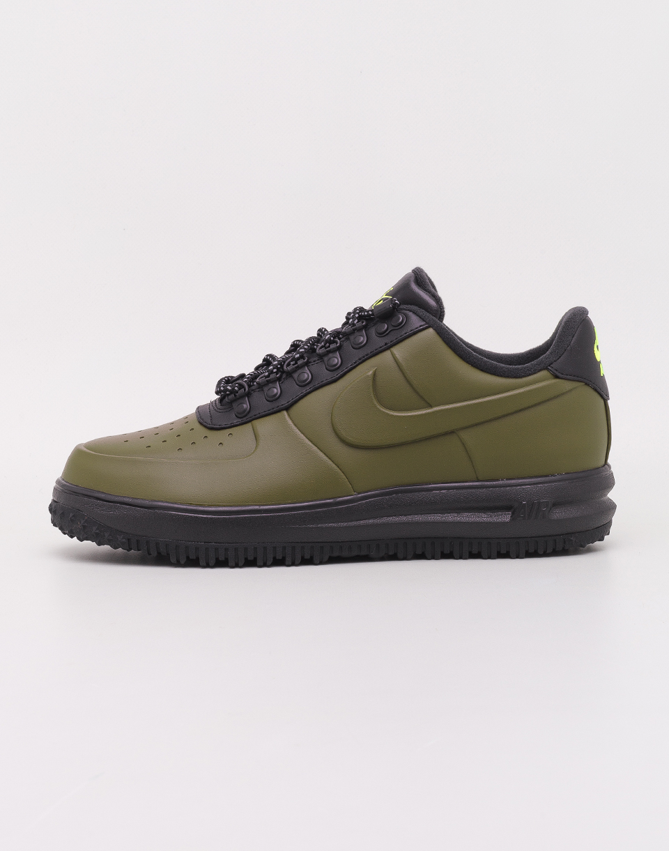 Nike Lunar Force 1 Duckboot Low Olive Canvas  Olive Canvas   Black   Volt 43
