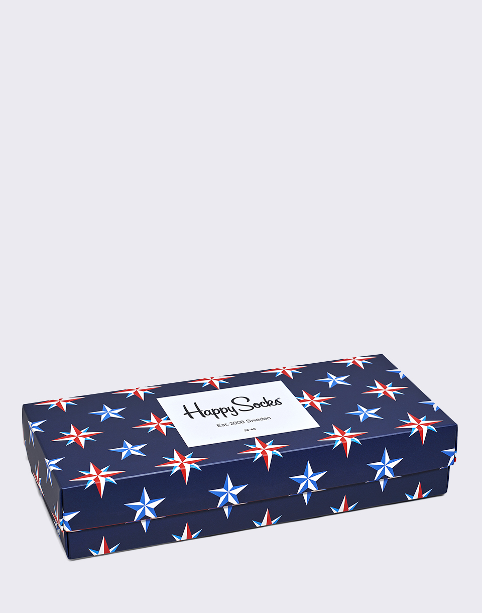 Happy Socks Nautical Gift Box XNAU09 6000 36 40