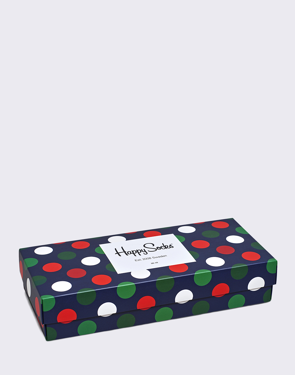 Happy Socks Holiday Big Dot Gift Box XBDO09 4000 36 40