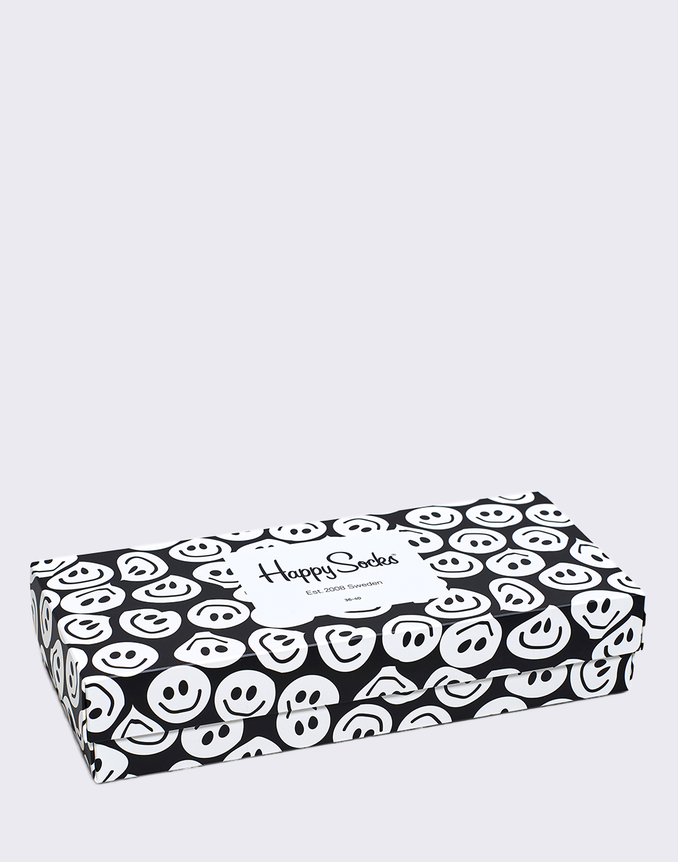 Happy Socks Black   White Gift Box XBLW09 9003 36 40