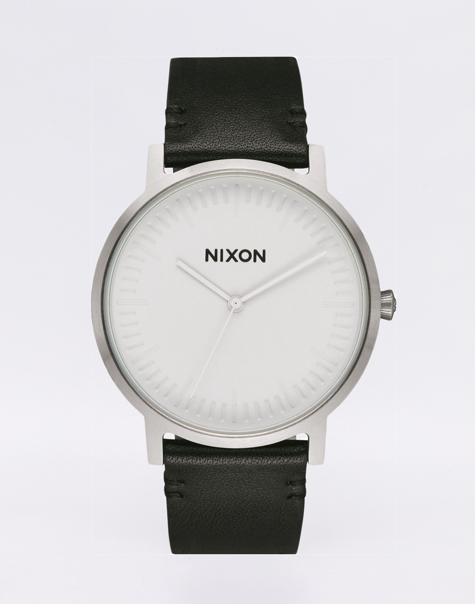 Nixon Porter Leather WHITESILVERBLACK