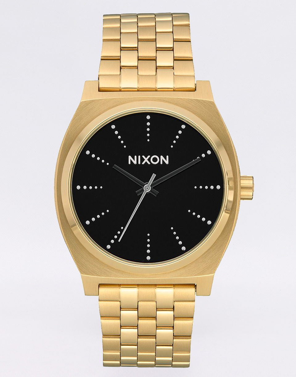Nixon Time Teller Gold Black Silver
