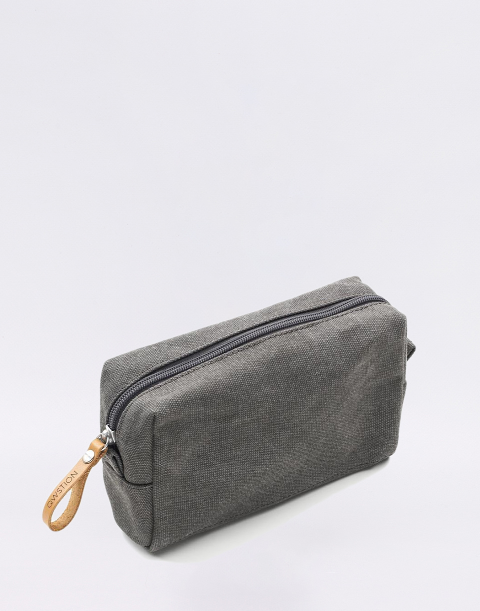 Qwstion Amenity Pouch Organic Washed Grey