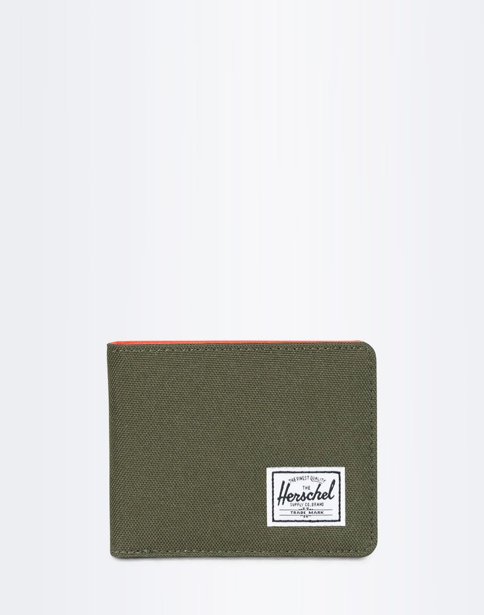 Peněženka Herschel Supply Roy + Coin RFID Forest Night/Vermillion Orange