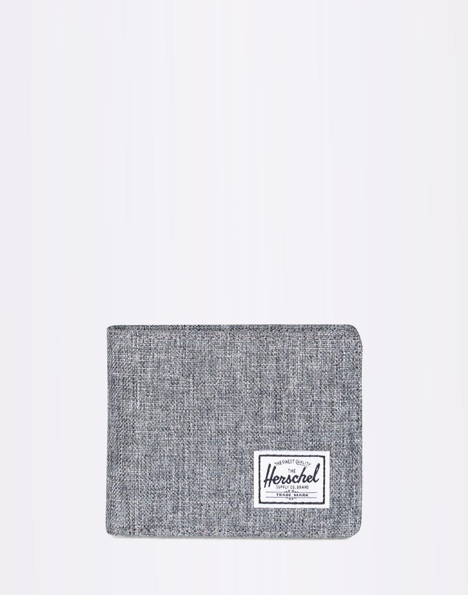 Peněženka Herschel Supply Roy + Coin RFID Raven Crosshatch