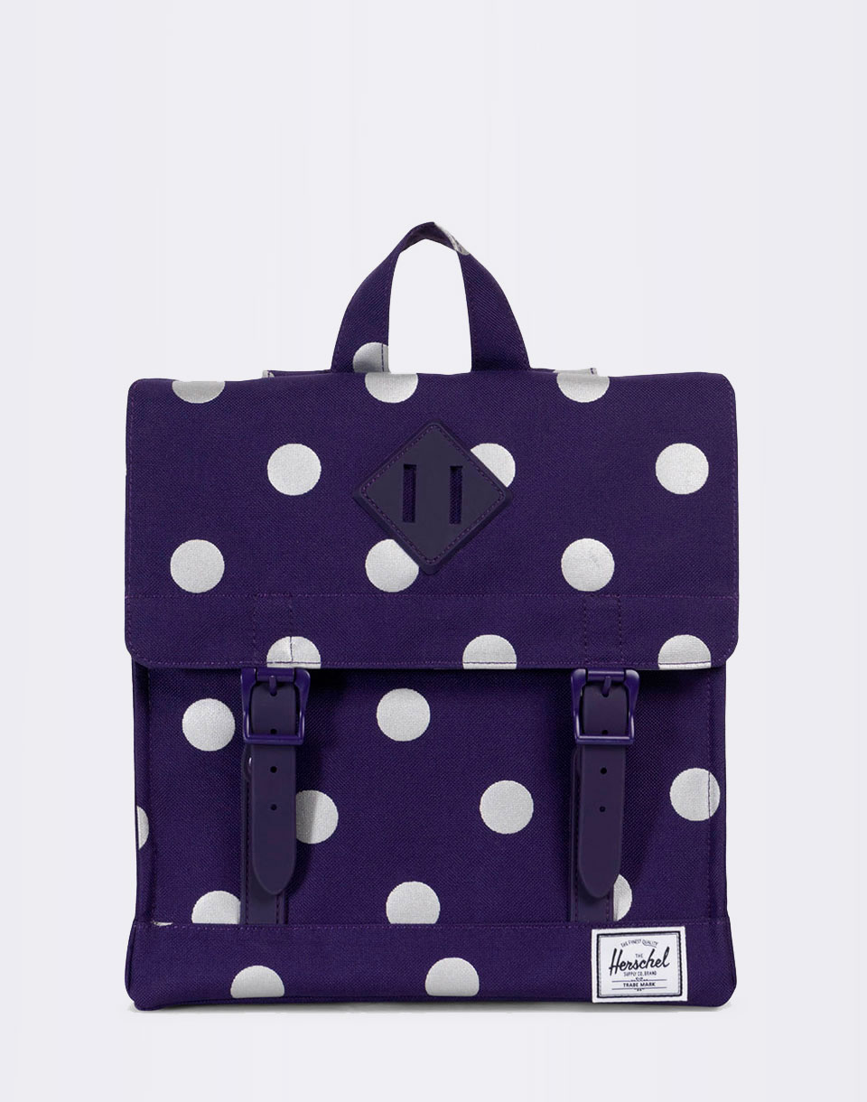 Herschel Supply Survey Kids Parachute Purple Polka Dot Parachute Purple Rubber