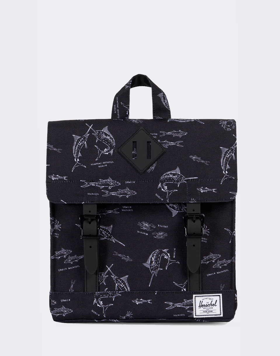Herschel Supply Survey Kids Saltwater Black Rubber