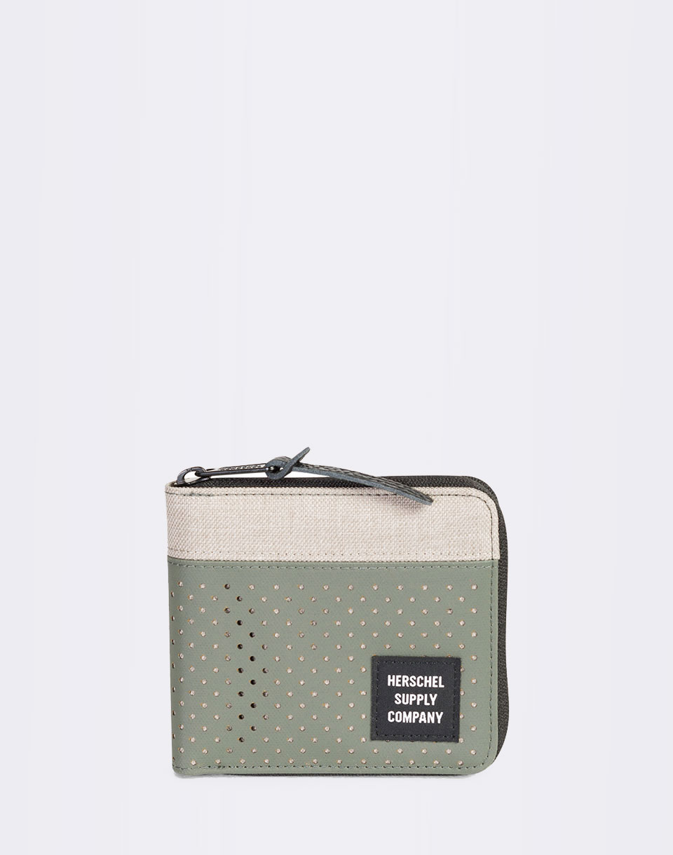 Herschel Supply Walt RFID Light Khaki Crosshatch Forest Night