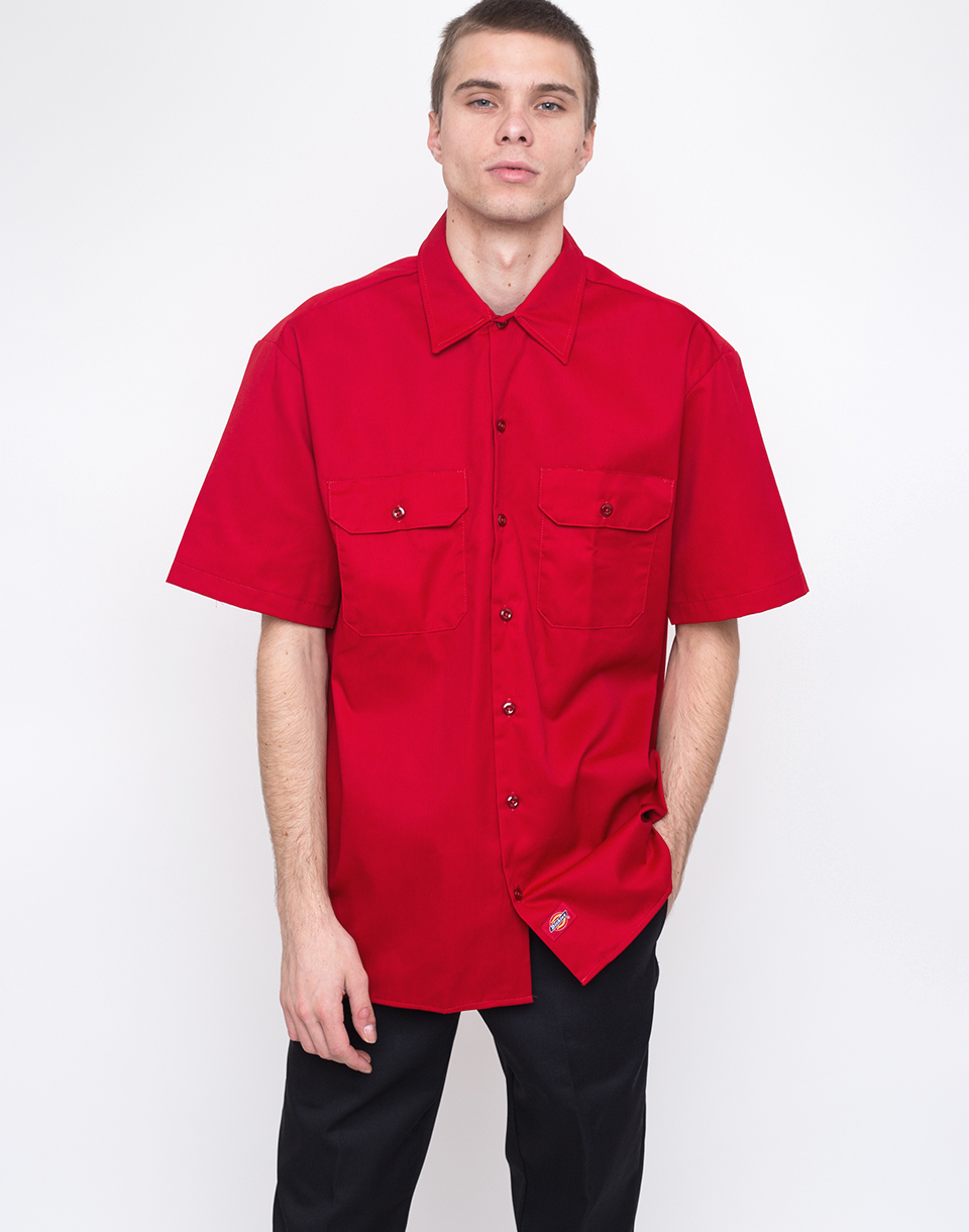Dickies Work Shirt English Red L
