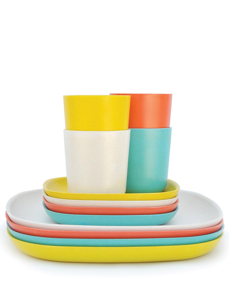 Dárkový Pack EKOBO Gusto Lunch Set 2 persimmon/ white/ lagoon/ lemon