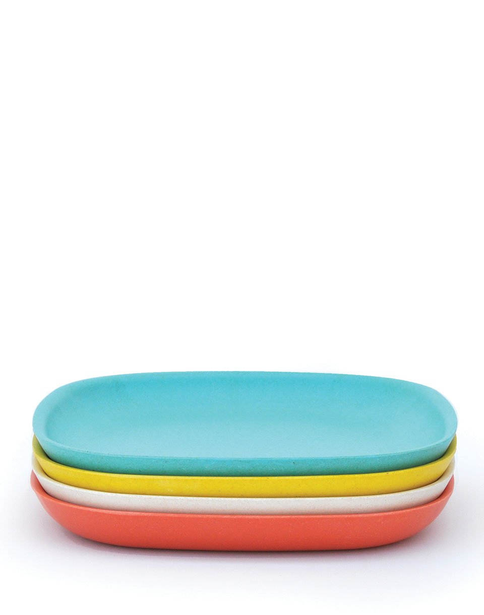 Dárkový Pack EKOBO Gusto Dinner Plate Set 2 persimmon/ white/ lagoon/ lemon