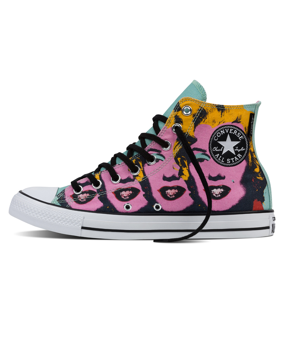 Sneakers - tenisky Converse Andy Warhol Chuck Taylor All Star Lichen/Orchid Smoke/White 37