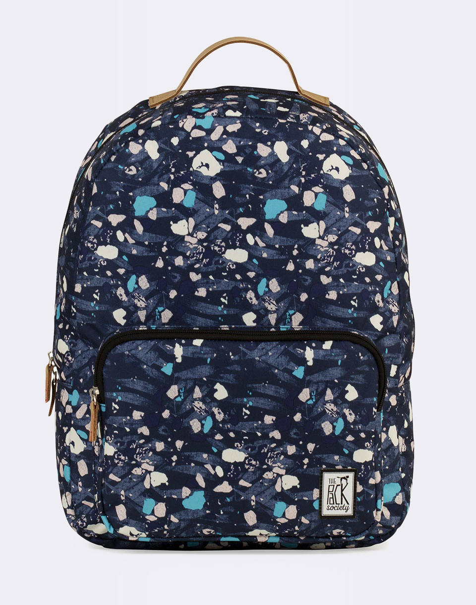 Batoh The Pack Society Classic Backpack Blue Speckles Allover