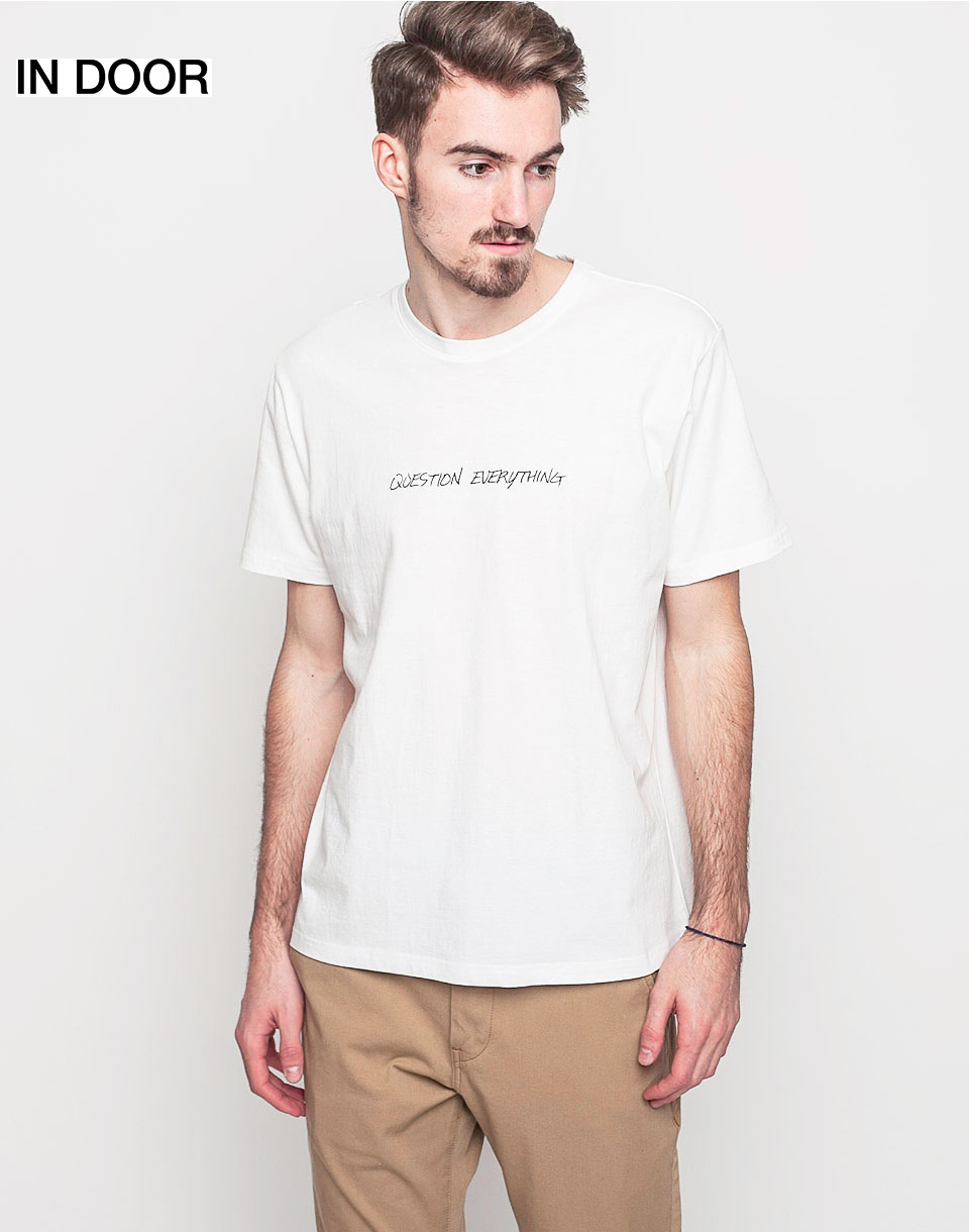 Triko Art of Scribble Question Everything Off White (WH) XL