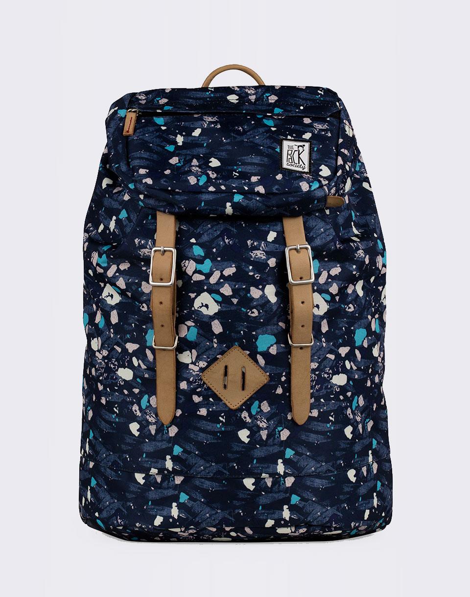 Batoh The Pack Society Premium Blue Speckles Allover + novinka