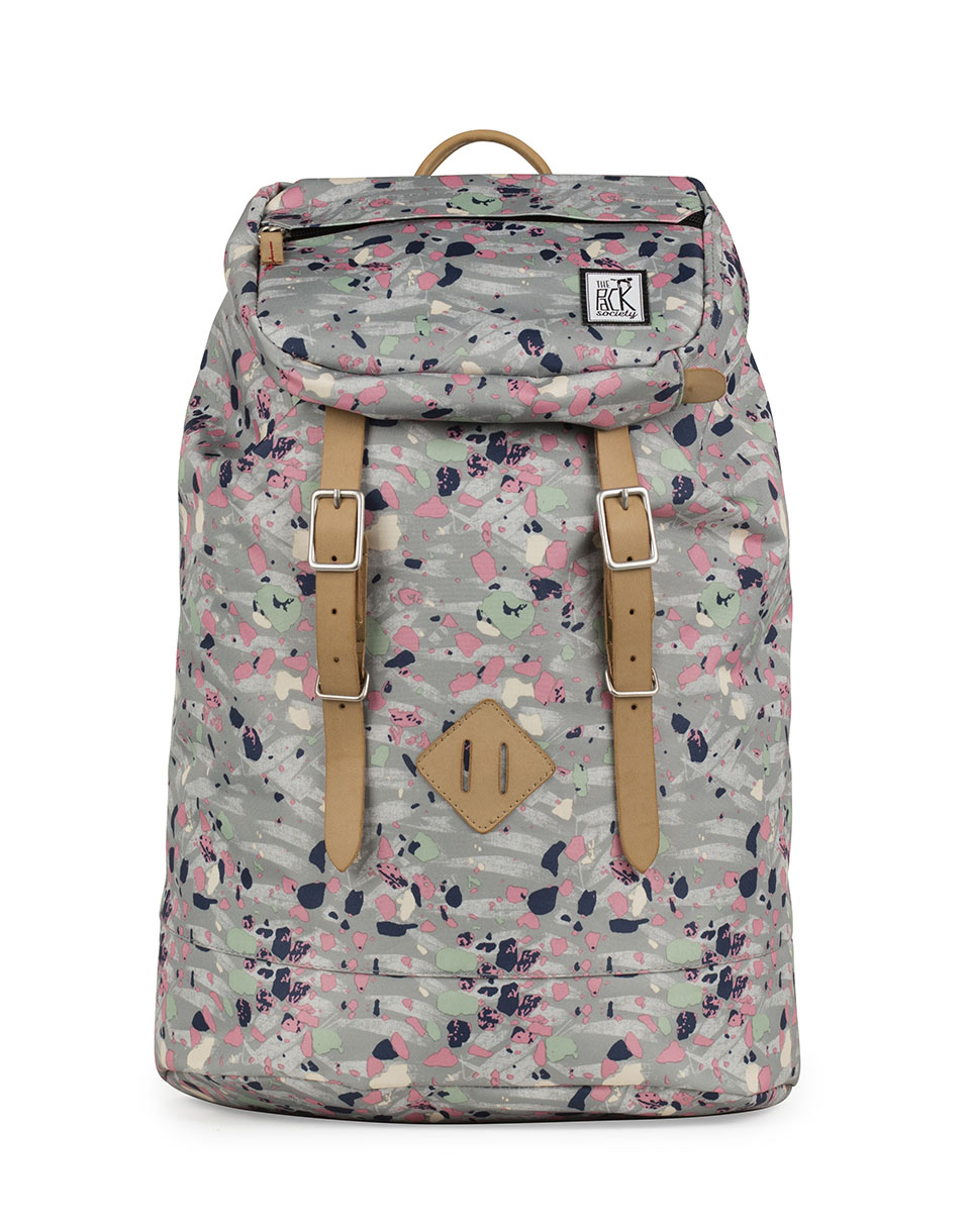 Batoh The Pack Society Premium Backpack Grey Speckles Allover
