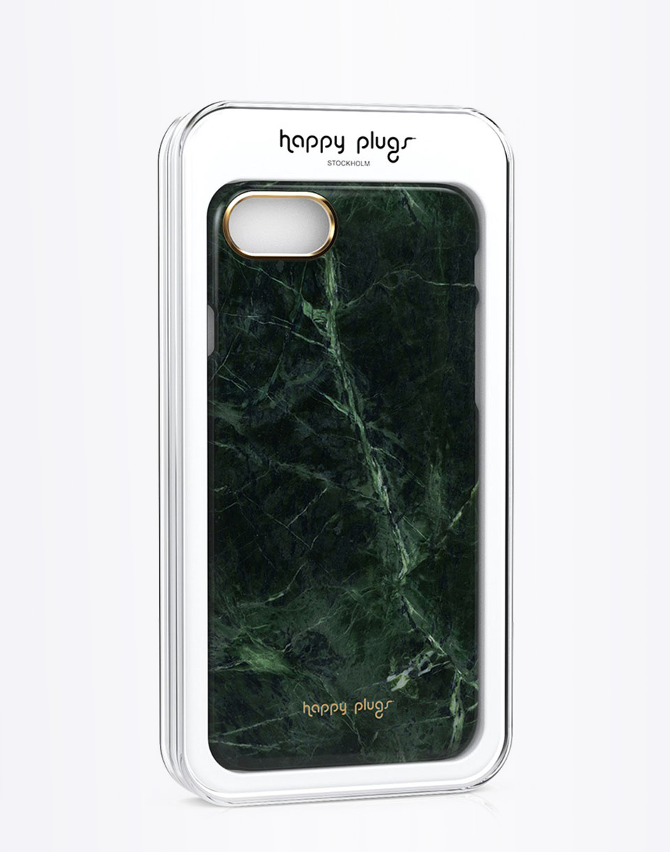 Na telefon Happy Plugs iPhone 7 Slim Case Green Marble